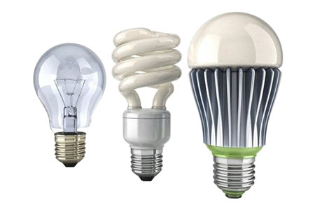 Install Energy Saving LED Light Bulbs